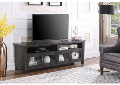 Dark Grey Wooden 72 Inch Tv Console