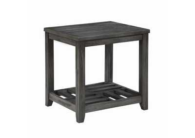 Image for Emperor Rustic Grey Side Table
