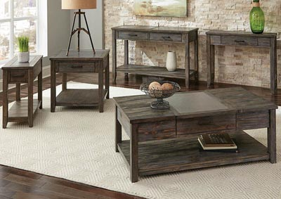Rustic Nutmeg Accent Table