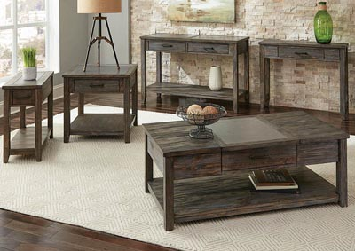 Rustic Nutmeg Sofa Table