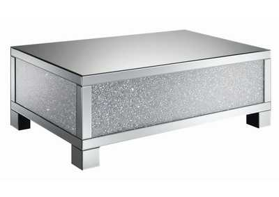 Silver Encrusted Crystal Coffee Table
