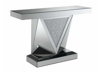 Image for Silver Contemporary Silver Sofa Table