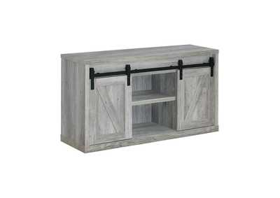 Grey Driftwood 48in 3 Shelf TV Console