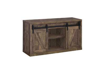 Rustic Oak 48in 3 Shelf TV Console