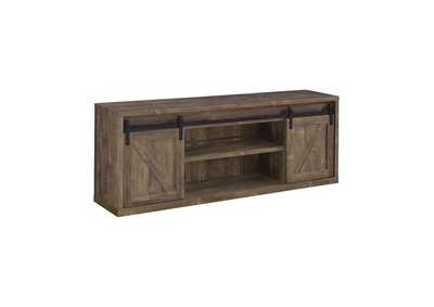 Rustic Oak 71in 3 Shelf TV Console