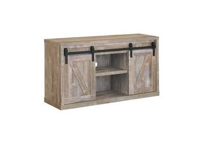 Weathered Oak 48in 3 Shelf TV Console