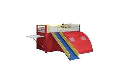 Valencia Multi-Color Themed Red, Blue, and Yellow Loft Bed,Coaster Furniture
