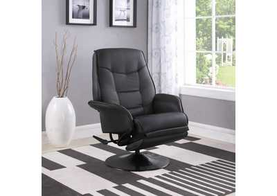 Berri Black Swivel Recliner