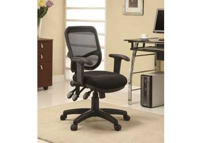 Black Transitional Black Office Chair