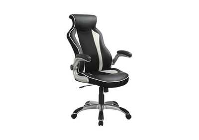 Image for Silver Contemporary Black and White Office Chair
