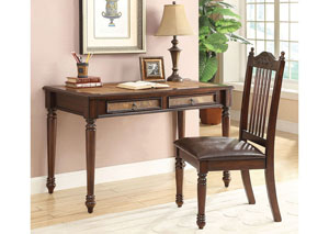 Image for Linen Casual Merlot Executive Desk