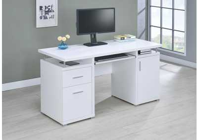 Image for White Contemporary Computer Desk