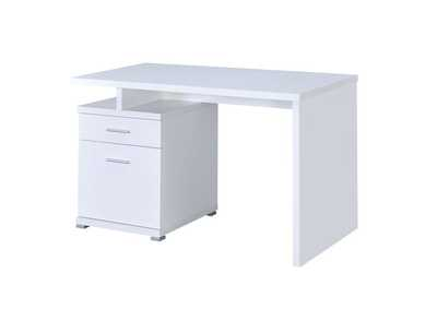 Image for White Contemporary White Executive Desk