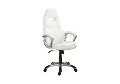Image for Silver Contemporary White Office Chair