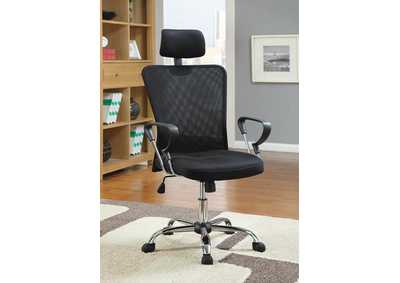 Black & Black Office Chair