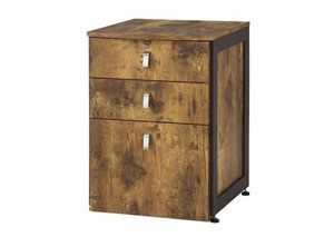 Antique Nutmeg File Cabinet