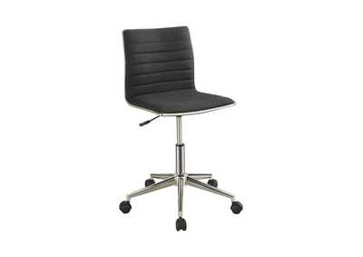 Image for Mine Shaft Modern Black and Chrome Home Office Chair
