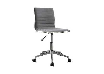 Image for Mid Gray Modern Grey and Chrome Home Office Chair