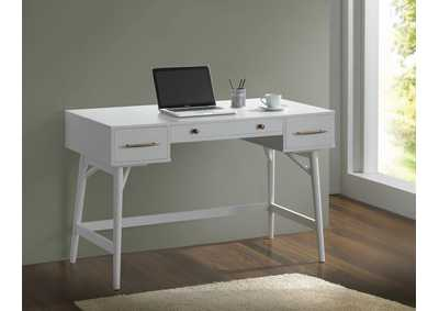 Image for Alto Transitional White Writing Desk
