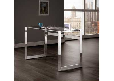 Glass Top Writing Desk