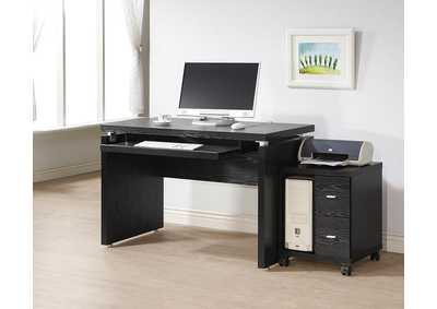 Black Oak Computer Desk
