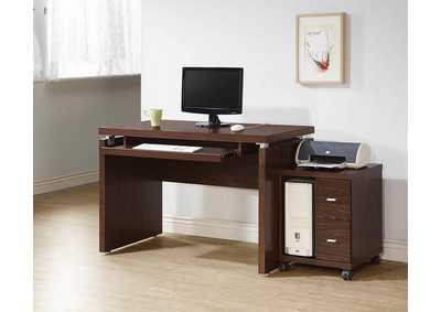 Medium Oak Computer Desk