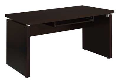 Image for Cappuccino Skylar Contemporary Cappuccino Computer Desk