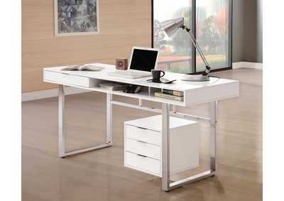 Glossy White Writing Desk
