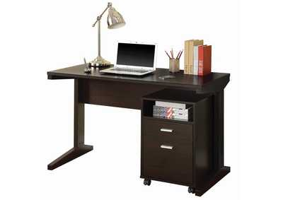 Cappiccino Office Desk & File Cabinet