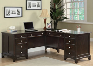 Garson Walnut Pedestal Desk