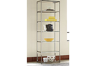 Black Nickel Bookcase