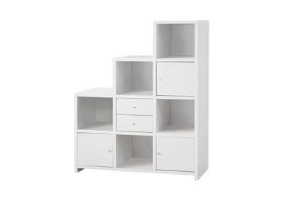 Image for White Contemporary White Bookcase