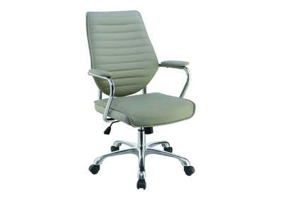 Taupe High-Back Office Chair