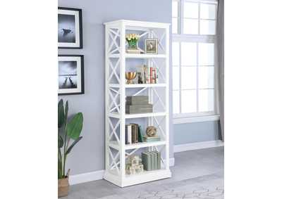 Image for Gallery Johansson Antique White Bookcase