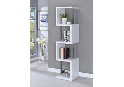 White Four-Tier Bookcase
