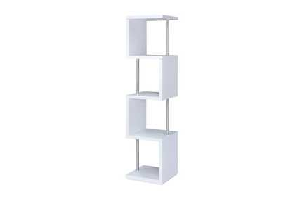 Image for White Modern White Four-Tier Bookcase