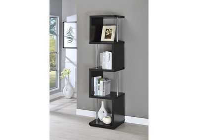 Black Four-Tier Bookcase