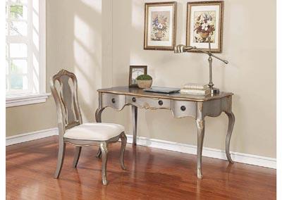 Gray/Gold Desk Set