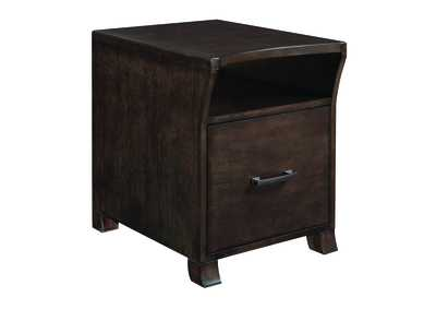 Smokey Black File Cabinet