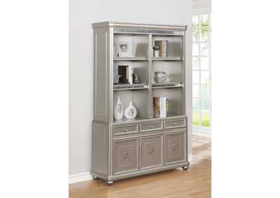 Ritzville Metallic Champagne Double Bookcase