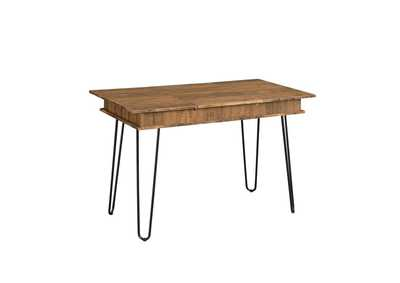 Sheeran Rustic Amber Writing Desk