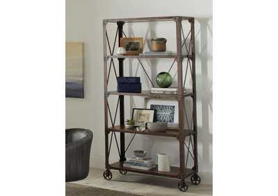Tobacco/Weathered Gunmetal Bookcase
