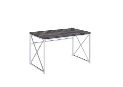 Image for Rustic Grey Herringbone Writing Desk