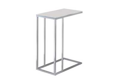 Image for Swiss Coffee Transitional Chrome Snack Table
