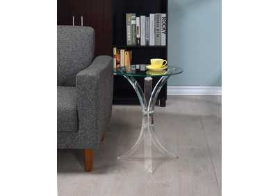 Clear Accent Table