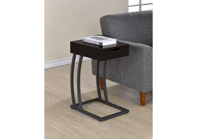 Image for Cappuccino Industrial Cappuccino Accent Table