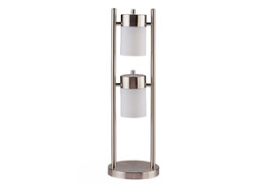 Metal Swivel Table Lamp w/Frosted Shade