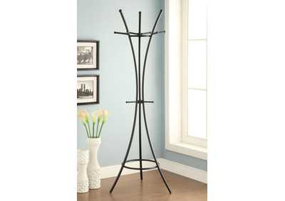 Image for Cultured Pearl Modern Black Metal Coat Rack