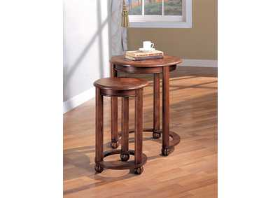 Warm Amber Nesting Table