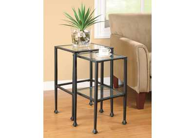 Black Nesting Table